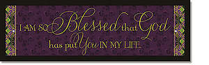 So Blessed Plaque - Words of Grace