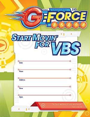 Vacation Bible School (VBS) 2015 G-Force Small Promotional Poster