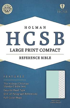 HCSB Large Print Compact Bible, Mint Green Leathertouch