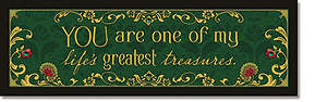 Life's Greatest Treasures Plaque - Words of Grace
