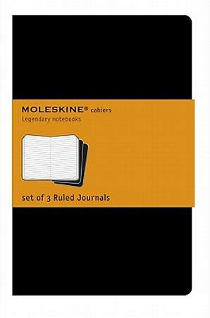 Journals Moleskine Cahier Ruled Black Extra Large
