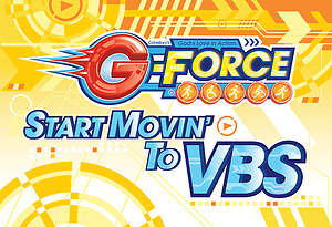 Vacation Bible School (VBS) 2015 G-Force Invitation Postcards (Pkg of 25)