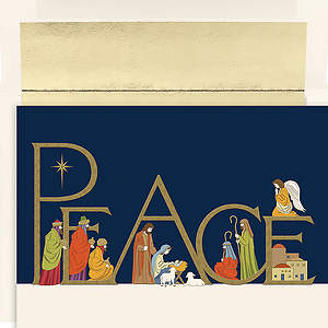 Peaceful Night Boxed Christmas Cards - Box of 16