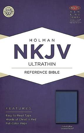 NKJV Ultrathin Reference Bible, Cobalt Blue Leathertouch