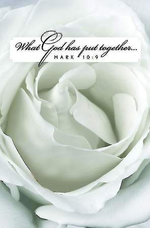 White Rose Bloom Wedding Bulletin, Regular Size (Package of 50)