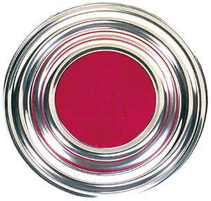 Aluminum Silvertone Offering Plate with Red IHS Mat