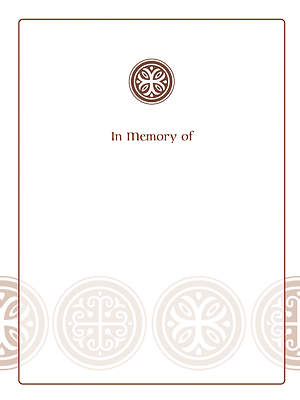 Celtic Cross Bookplate - In Memory Of [Pack of 15]