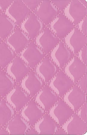 NIV Thinline Quilted Collection Bible Compact Italian Duo-Tone Strawberry Cream