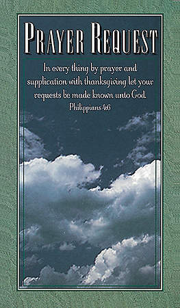 Prayer Request Pew Cards Package of 50