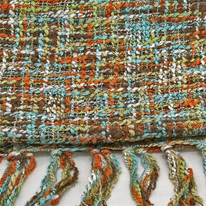 Thai Cozy Scarf - Brown/Teal/Orange
