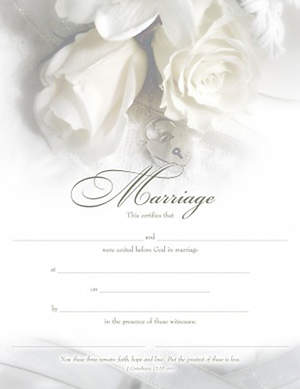 Certificate of Marriage Package of 6