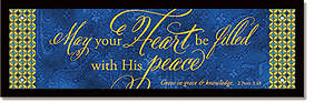 His Peace Plaque - Words of Grace