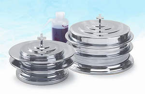 Aluminum Communionware Silver Plate Set of 9