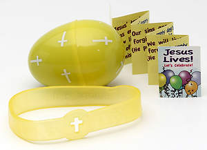 Jesus Lives! Let`s Celebrate Egg with Silicone Bracelet