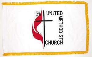 United Methodist 3 X 5 Indoor Flag
