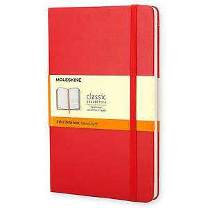 Notebook Moleskine Classic Red Ruled Large