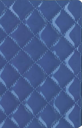 NIV Thinline Quilted Collection Bible, Compact, Italian Duo-Tone, Blueberry