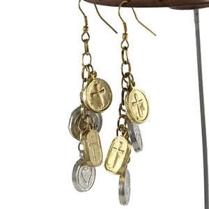 India Christian Charm Earrings