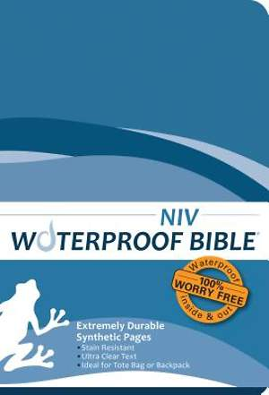 Waterproof Bible - NIV - Blue Wave