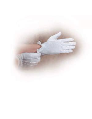 Gloves Handbell White Large