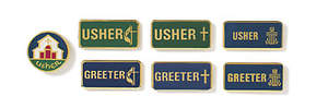 Usher Pin with Cross and Flame Emblem