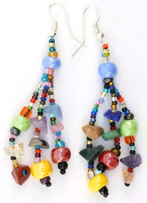 Guatemala Earrings - Bright Beads