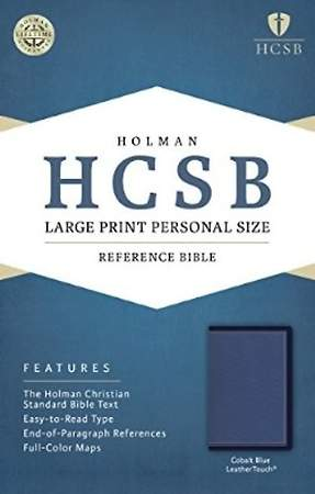 HCSB Large Print Personal Size Bible, Cobalt Blue Leathertouch