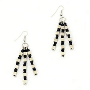 Java Dangle Bead Earrings - Black