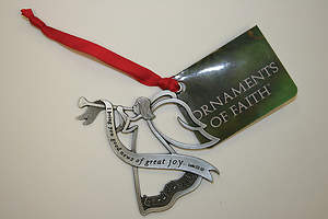Christmas Angel Pewter Ornament