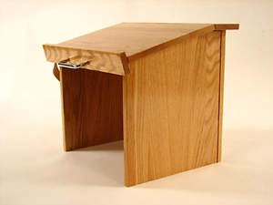 Table Top Red Oak Folding Lectern