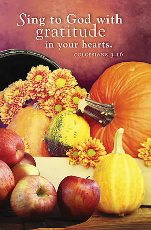 Sing to God Thanksgiving Bulletin 2015, Regular (Package of 50)