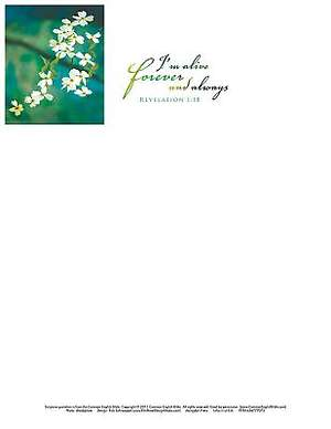 I'm Alive Easter Dogwood Letterhead 2015 (Package of 50)