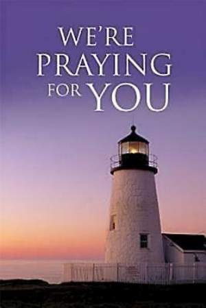 We`re Praying For You Lighthouse Postcard (Package of 25)