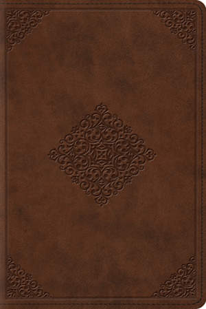 ESV Study Bible, Personal Size (Trutone, Saddle, Ornament Design)