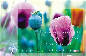 Birthday Blessings Postcards (Pack of 25)
