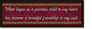 Beautiful Friendship Plaque - Words of Grace