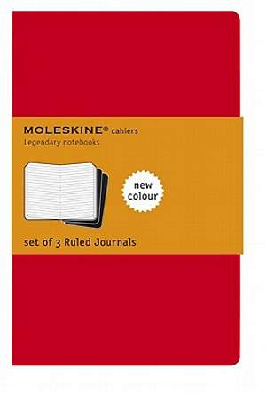 Journal Moleskine Cahier Ruled Red Extra Large
