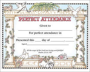 Perfect Attendance Certificate (Package of 36)