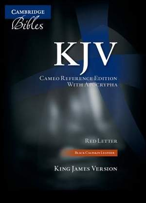 KJV Cameo Reference with Apocrypha Black Calfskin Kj455