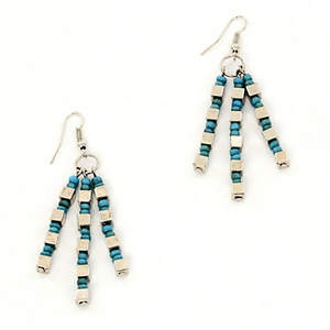 Java Dangle Bead Earrings - Turquoise