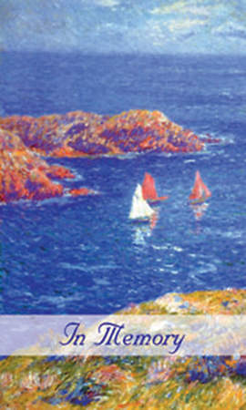 Sailboat Memorial Card Package of 25