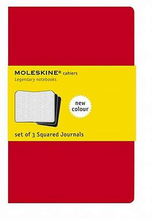 Journal Moleskine Cahier Squared Red Extra Large