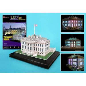 White House 3D Puzzle with Base & Lights