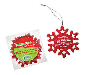 Package of 8 Unwrapped Felt Ornaments