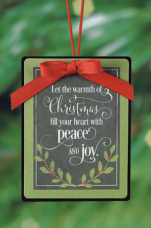 Peace & Joy Chalk Christmas Ornament
