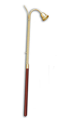 "Candlelighter/Extinguisher, Brass and Wood  36"" Long"
