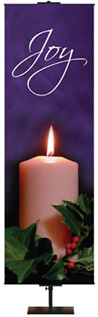 "Photo Series Joy Purple Advent Banner 18"" x 60"""