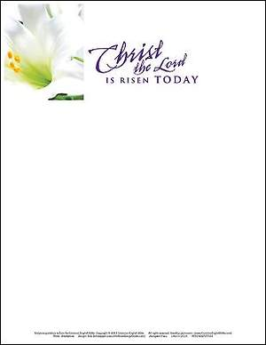Christ the Lord Easter Lilies Letterhead 2015 (Package of 50)