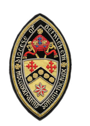 Hand Embroidered Diocesan Seal - Diocese of Bethlehem