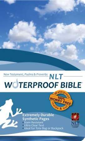 Waterproof New Testament with Psalms and Proverbs-NLT-Blue